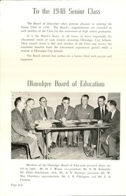 Page 8, 1948 Edition, Okmulgee High School - Torchlight Yearbook (Okmulgee, OK) online yearbook collection