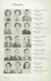Page 12, 1949 Edition, Okmulgee High School - Torchlight Yearbook (Okmulgee, OK) online yearbook collection