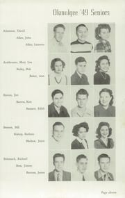Page 15, 1949 Edition, Okmulgee High School - Torchlight Yearbook (Okmulgee, OK) online yearbook collection