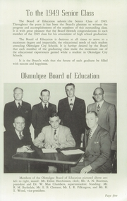 Page 9, 1949 Edition, Okmulgee High School - Torchlight Yearbook (Okmulgee, OK) online yearbook collection