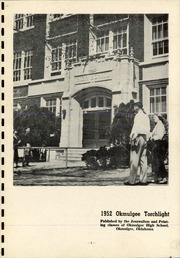 Page 5, 1952 Edition, Okmulgee High School - Torchlight Yearbook (Okmulgee, OK) online yearbook collection