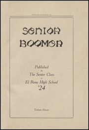 Page 5, 1924 Edition, El Reno High School - Boomer Yearbook (El Reno, OK) online yearbook collection