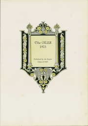 Page 7, 1923 Edition, Cushing High School - Oiler Yearbook (Cushing, OK) online yearbook collection