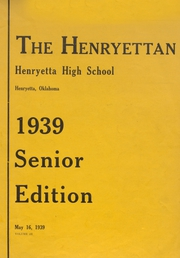Page 1, 1940 Edition, Henryetta High School - Squab Yearbook (Henryetta, OK) online yearbook collection