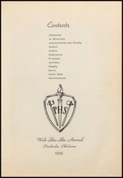 Page 9, 1954 Edition, Pawhuska High School - Wa Sha She Yearbook (Pawhuska, OK) online yearbook collection