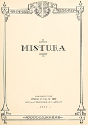 Page 7, 1932 Edition, Indianapolis College of Pharmacy - Mistura Yearbook (Indianapolis, IN) online yearbook collection