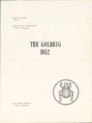 Page 5, 1952 Edition, Alva High School - Goldbug Yearbook (Alva, OK) online yearbook collection