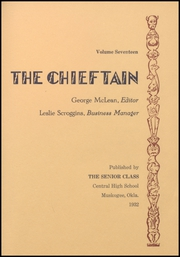 Page 15, 1932 Edition, Central High School - Chieftain Yearbook (Muskogee, OK) online yearbook collection