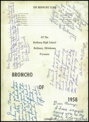 Page 5, 1958 Edition, Bethany High School - Broncho Yearbook (Bethany, OK) online yearbook collection