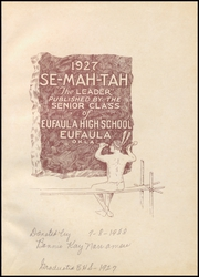 Page 5, 1927 Edition, Eufaula High School - Ironhead Yearbook (Eufaula, OK) online yearbook collection