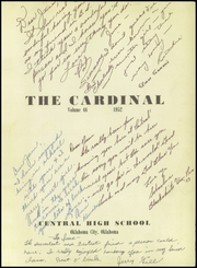 Page 5, 1952 Edition, Central High School - Cardinal Yearbook (Oklahoma City, OK) online yearbook collection