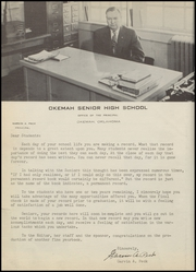 Page 12, 1955 Edition, Okemah High School - Panther Yearbook (Okemah, OK) online yearbook collection
