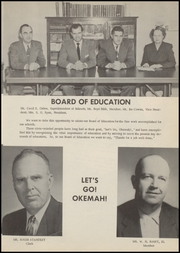 Page 11, 1956 Edition, Okemah High School - Panther Yearbook (Okemah, OK) online yearbook collection