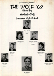 Page 5, 1962 Edition, Heavener High School - Wolf Yearbook (Heavener, OK) online yearbook collection