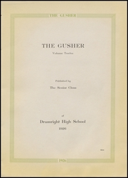 Page 7, 1926 Edition, Drumright High School - Gusher Yearbook (Drumright, OK) online yearbook collection