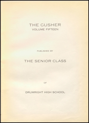 Page 7, 1929 Edition, Drumright High School - Gusher Yearbook (Drumright, OK) online yearbook collection