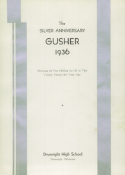 Page 5, 1936 Edition, Drumright High School - Gusher Yearbook (Drumright, OK) online yearbook collection