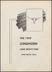 Page 5, 1959 Edition, Lone Grove High School - Longhorn Yearbook (Lone Grove, OK) online yearbook collection