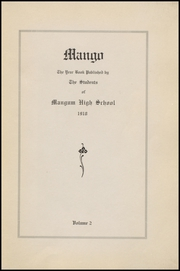 Page 7, 1918 Edition, Mangum High School - Tiger Yearbook (Mangum, OK) online yearbook collection