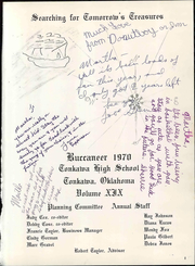 Page 7, 1970 Edition, Tonkawa High School - Buccaneer Yearbook (Tonkawa, OK) online yearbook collection