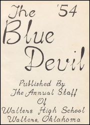 Page 5, 1954 Edition, Walters High School - Blue Devil Yearbook (Walters, OK) online yearbook collection