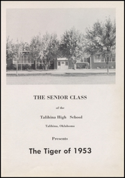 Page 5, 1953 Edition, Talihina High School - Tiger Yearbook (Talihina, OK) online yearbook collection