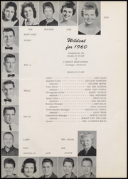 Page 5, 1960 Edition, Carnegie High School - Wigle Yearbook (Carnegie, OK) online yearbook collection