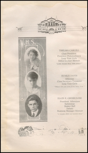 Page 16, 1916 Edition, Waurika High School - Eagle Yearbook (Waurika, OK) online yearbook collection