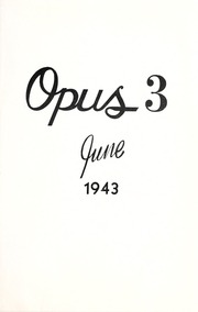 Page 3, 1943 Edition, Arthur Jordan Conservatory of Music - Opus Yearbook (Indianapolis, IN) online yearbook collection