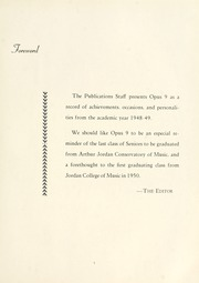 Page 9, 1949 Edition, Arthur Jordan Conservatory of Music - Opus Yearbook (Indianapolis, IN) online yearbook collection