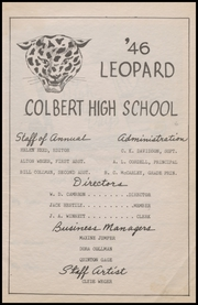 Page 5, 1946 Edition, Colbert High School - Leopard Yearbook (Colbert, OK) online yearbook collection