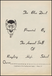Page 7, 1957 Edition, Ringling High School - Blue Devil Yearbook (Ringling, OK) online yearbook collection