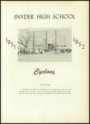 Page 5, 1952 Edition, Snyder High School - Cyclone Yearbook (Snyder, OK) online yearbook collection