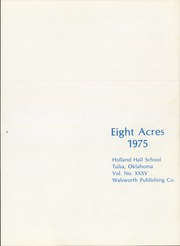 Page 5, 1975 Edition, Holland Hall High School - Eight Acres Yearbook (Tulsa, OK) online yearbook collection