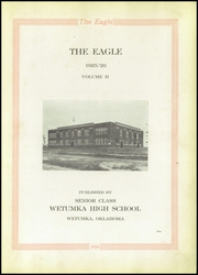 Page 7, 1926 Edition, Wetumka High School - Eagle Yearbook (Wetumka, OK) online yearbook collection