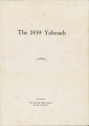 Page 7, 1939 Edition, Bowlegs High School - Yahnseh Yearbook (Bowlegs, OK) online yearbook collection