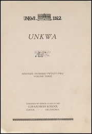 Page 5, 1922 Edition, Copan High School - Unkwa Yearbook (Copan, OK) online yearbook collection