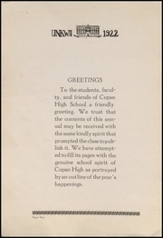 Page 6, 1922 Edition, Copan High School - Unkwa Yearbook (Copan, OK) online yearbook collection