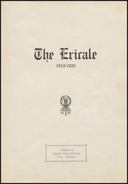 Page 7, 1920 Edition, Erick High School - Bearcat Yearbook (Erick, OK) online yearbook collection