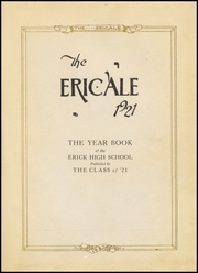Page 5, 1921 Edition, Erick High School - Bearcat Yearbook (Erick, OK) online yearbook collection