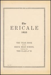 Page 5, 1925 Edition, Erick High School - Bearcat Yearbook (Erick, OK) online yearbook collection