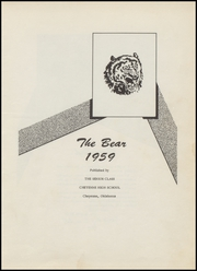 Page 5, 1959 Edition, Cheyenne High School - Bear Yearbook (Cheyenne, OK) online yearbook collection