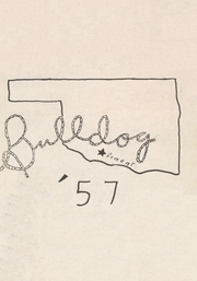 1957 Edition, Cement High School - Bulldog Yearbook (Cement, OK)