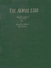 1940 Edition, Achille High School - Echo Yearbook (Achille, OK)