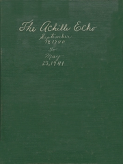 1941 Edition, Achille High School - Echo Yearbook (Achille, OK)