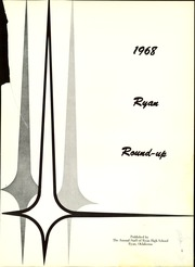 Page 5, 1968 Edition, Ryan High School - Round Up Yearbook (Ryan, OK) online yearbook collection
