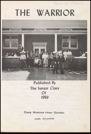 Page 7, 1959 Edition, Oaks Mission High School - Warrior Yearbook (Oaks, OK) online yearbook collection