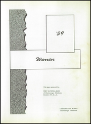Page 5, 1959 Edition, Chattanooga Central High School - Warrior Yearbook (Chattanooga, OK) online yearbook collection