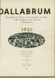 Page 7, 1937 Edition, University of Tulsa - Kendallabrum (Tulsa, OK) online yearbook collection