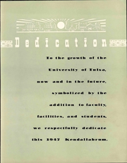 Page 13, 1947 Edition, University of Tulsa - Kendallabrum (Tulsa, OK) online yearbook collection